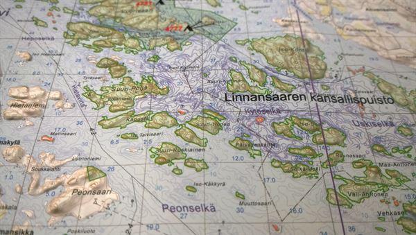 Paddling map: Linnansaari