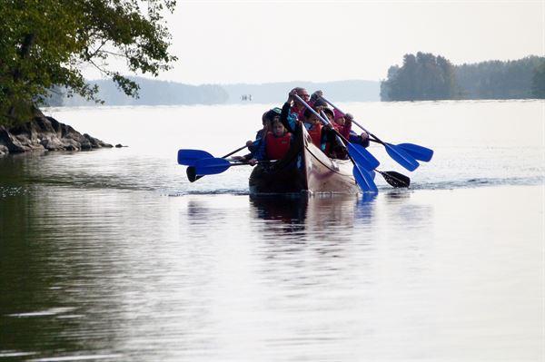 Giant canoe