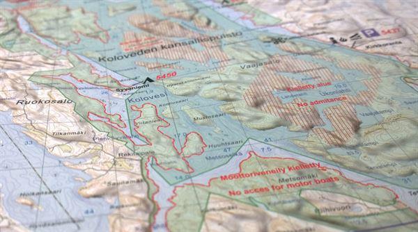 Melontakartta: Kolovesi-Joutenvesi